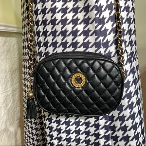 Delane Quilted Leather Cross Body w/ Chain Strap